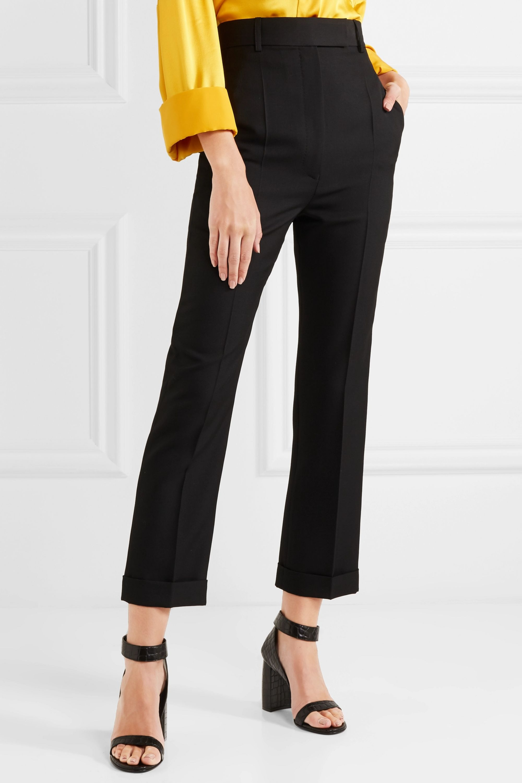 Haider Ackermann Wool-piqué slim-leg pants