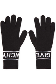 Givenchy Intarsia wool gloves