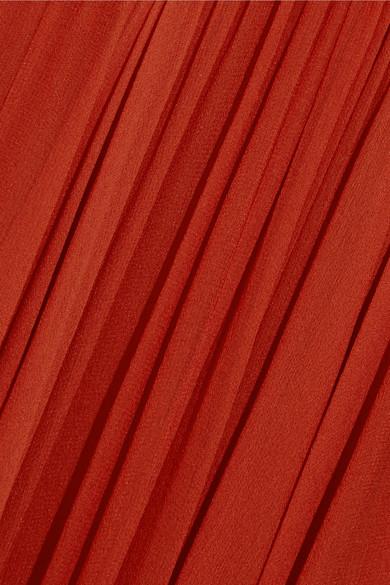 Jenny Packham Schulterfreie Robe aus Seidenchiffon mit Verzierungen