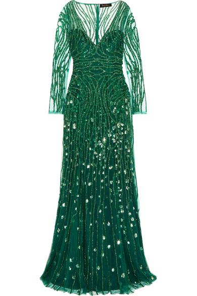 Jenny Packham Verzierte Robe aus Tüll
