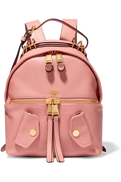 Moschino - B-pocket Textured-leather Backpack - Baby pink