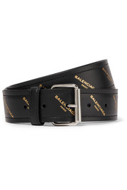 Balenciaga Bazar printed leather belt