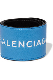 Balenciaga Cycle textured-leather cuff
