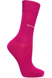 Balenciaga Intarsia cotton-blend socks