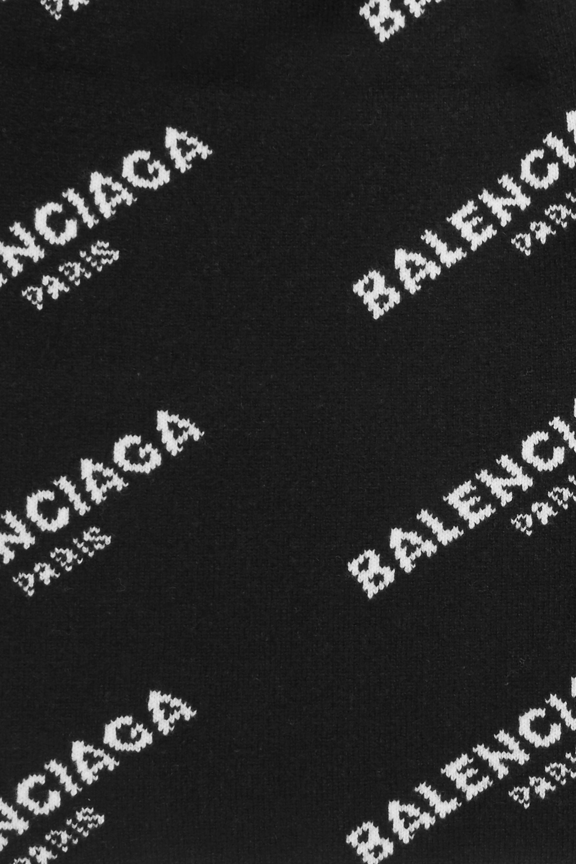 Balenciaga Schal aus Jacquard-Strick aus einer Baumwollmischung
