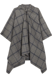 Balenciaga Plaid cashmere and wool-blend poncho