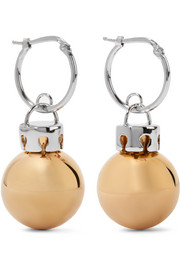 Balenciaga December gold and silver-tone earrings