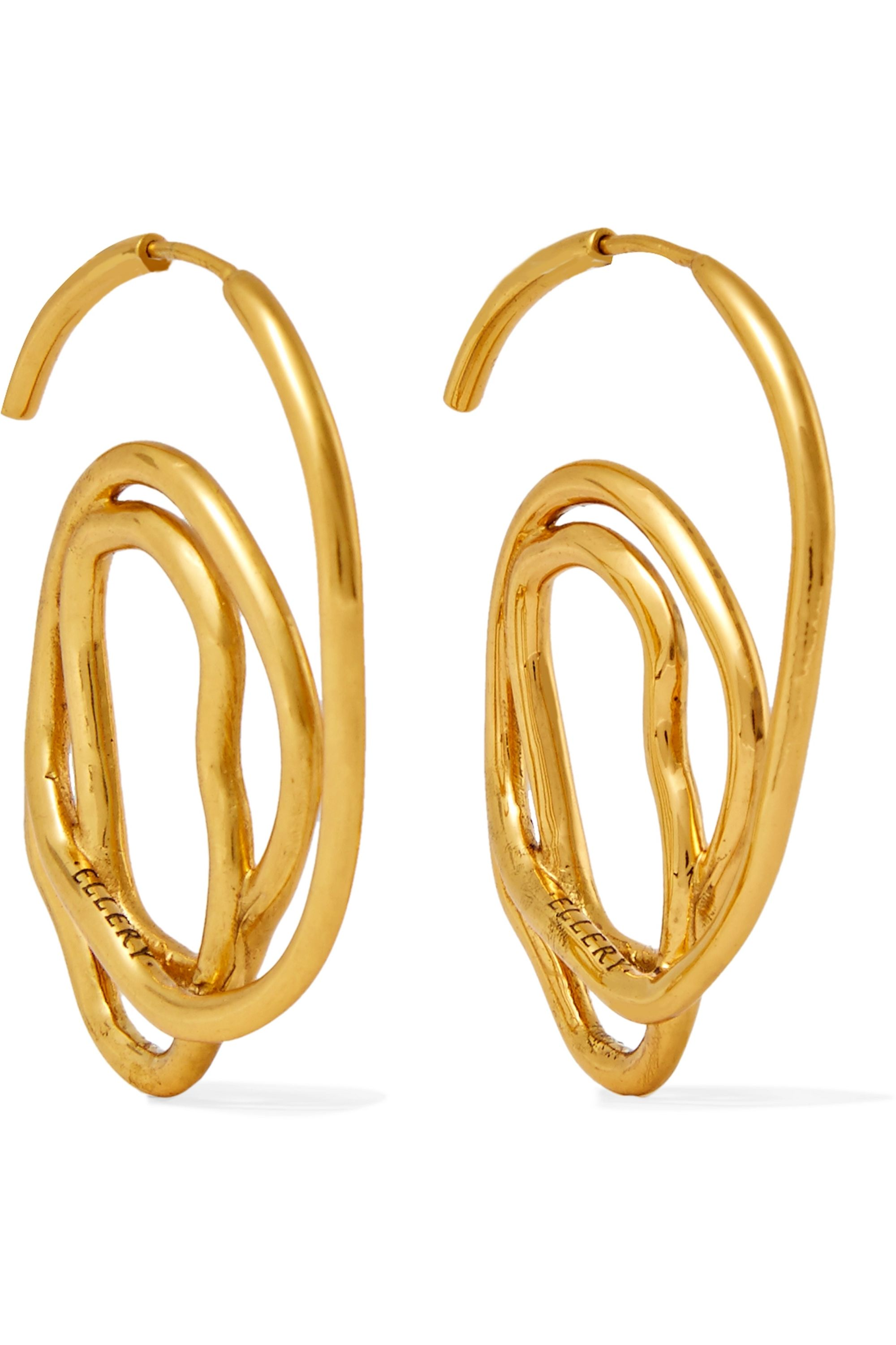 Ellery Memphis gold-plated earrings