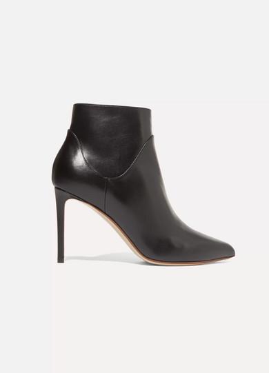 FRANCESCO RUSSO - Leather Ankle Boots - Black