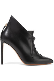 Francesco Russo Lace-up leather ankle boots