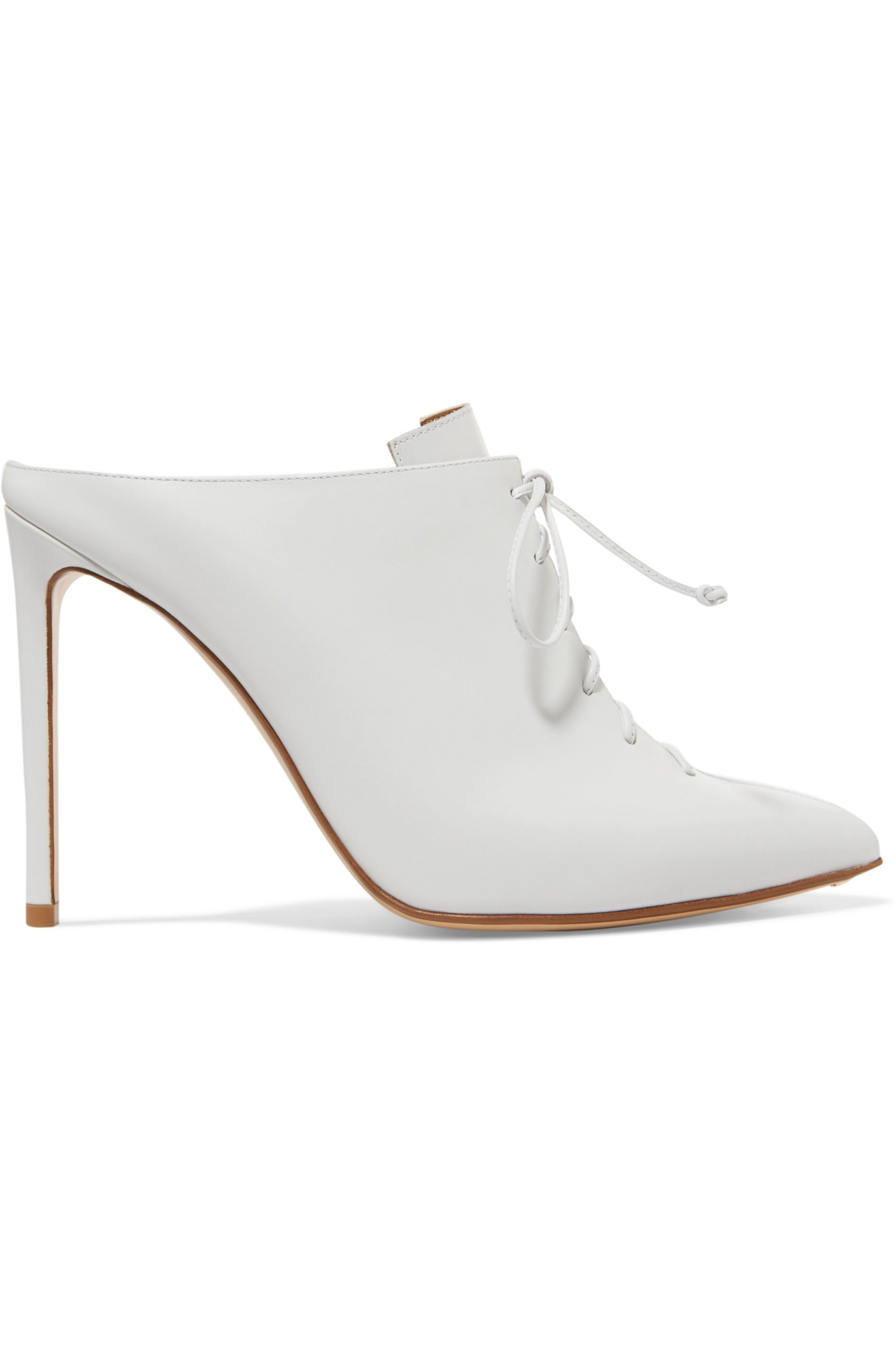 Francesco Russo Lace-up leather mules