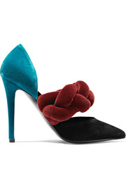 Marco De Vincenzo Braided velvet pumps