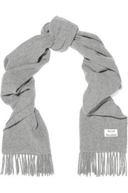 Canada Narrow fringed wool scarf