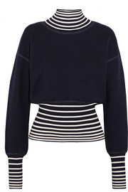 Loewe Striped stretch-knit turtleneck sweater