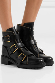 Balmain Ambra buckled leather ankle boots
