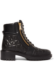 Balmain Army quilted leather ankle boots