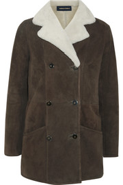 Earl shearling-trimmed suede jacket