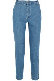 Victoire cropped high-rise slim-leg jeans