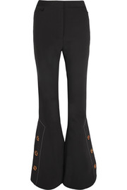 Activist stretch-crepe flared pants