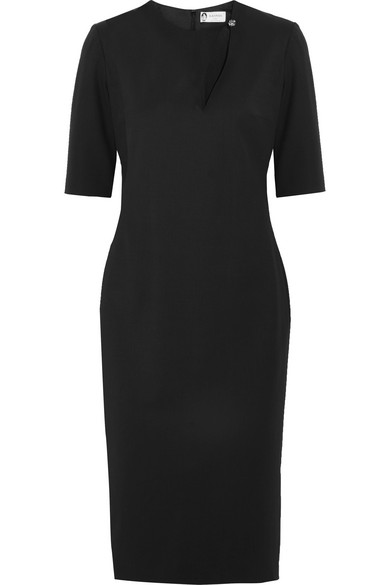 Lanvin - Cutout Stretch-wool Twill Dress - Black at NET-A-PORTER