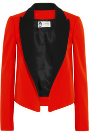 Two-tone wool-twill tuxedo jacket