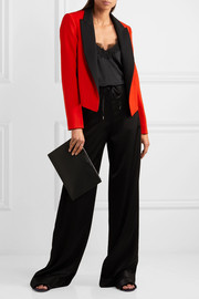 Lanvin Two-tone wool-twill tuxedo jacket