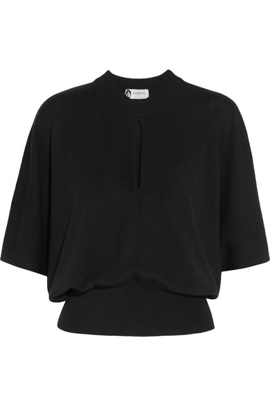 Lanvin - Cutout Stretch-wool Sweater - Black at NET-A-PORTER