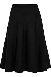 Lanvin Stretch wool-blend midi skirt