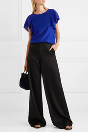 Lanvin Ruffled crepe de chine top