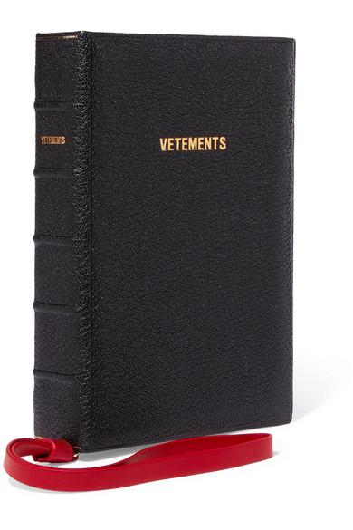 Vetements - Ulrich Textured-leather Clutch - Black