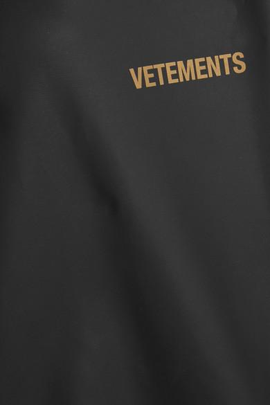 Vetements Pvc Coated Printed Shell Hooded Raincoat Net A Porter Com