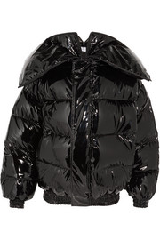 Vetements Miss Webcam quilted vinyl jacket