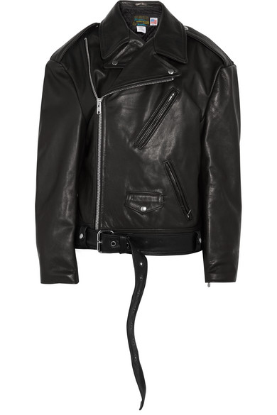 83ca1587e + Schott NYC Perfecto Emo oversized textured-leather biker jacket