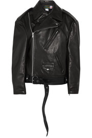 Vetements + Schott NYC Perfecto Emo oversized textured-leather biker jacket