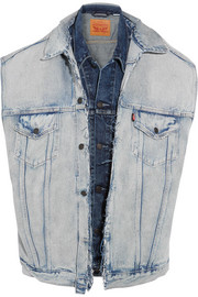 Vetements + Levi's oversized distressed denim vest