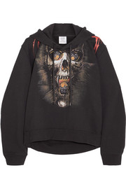 Vetements Printed cotton-blend jersey hooded top