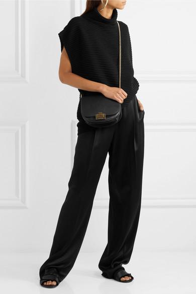 Victoria Beckham Half Moon Box Chain Schultertasche aus Leder