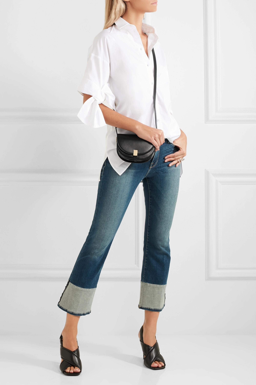 Victoria Beckham Half Moon Box nano leather shoulder bag