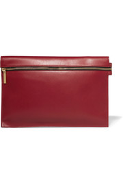 Large leather clutch