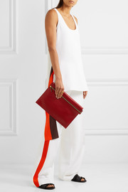 Victoria Beckham Large leather clutch