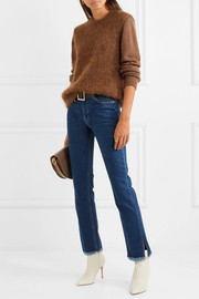 M.i.h Jeans Daily frayed mid-rise straight-leg jeans