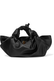 Ascot knotted satin tote