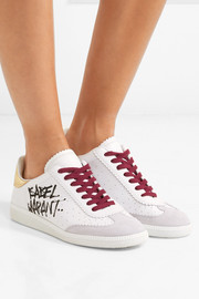 Isabel Marant Bryce printed leather and suede sneakers