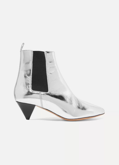 Ankle Boots Isabel Marant Isabel marant dawell metallic leather ankle boots net a porter sisterspd