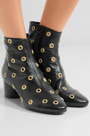 Isabel Marant Danay eyelet-embellished leather ankle boots