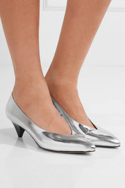 Isabel Marant Poomi metallic leather pumps