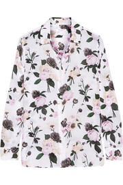 Equipment Leema floral-print silk crepe de chine shirt