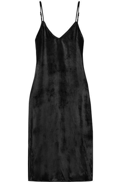 Equipment - Nia Velvet Dress - Black