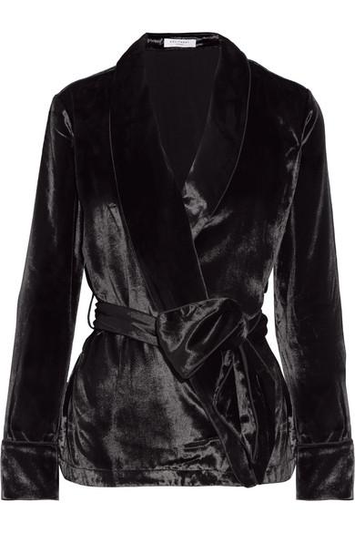 Equipment - Odette Velvet Jacket - Black