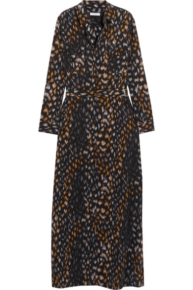 Equipment - Major Leopard-print Washed-silk Maxi Dress - Leopard print